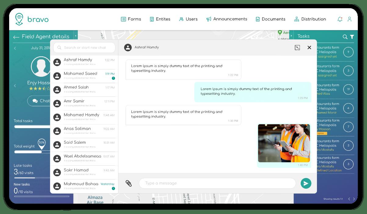 conversation between team members